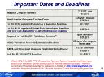 important dates and deadlines1