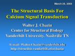 the structural basis for calcium signal transduction