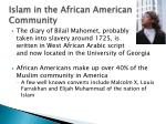 islam in the african american community