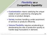 flexibility as a competitive capability