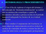 6 metodologia y procedimiento
