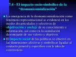 7 4 el impacto socio simb lico de la desmanicomializaci n