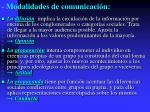 modalidades de comunicaci n