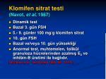 klomifen sitrat testi navot et al 1987