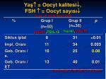 ya oocyt kalitesi fsh oocyt say s toner jp fertil steril 2003