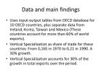 data and main findings