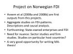 project on norwegian fdi