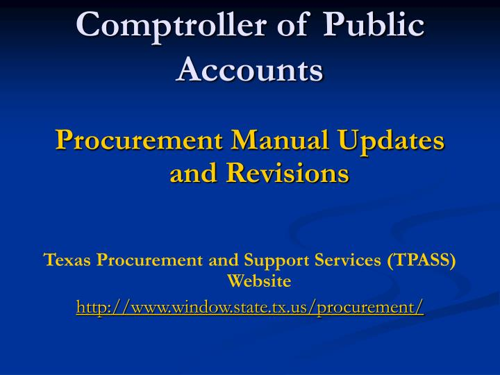 comptroller of public accounts n.