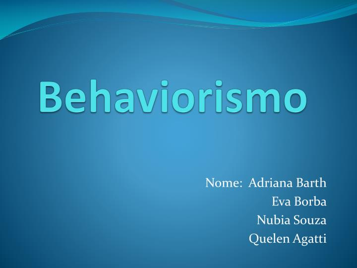 behaviorismo n.