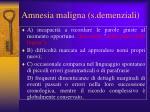 amnesia maligna s demenziali
