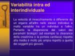 variabilit intra ed interindividuale