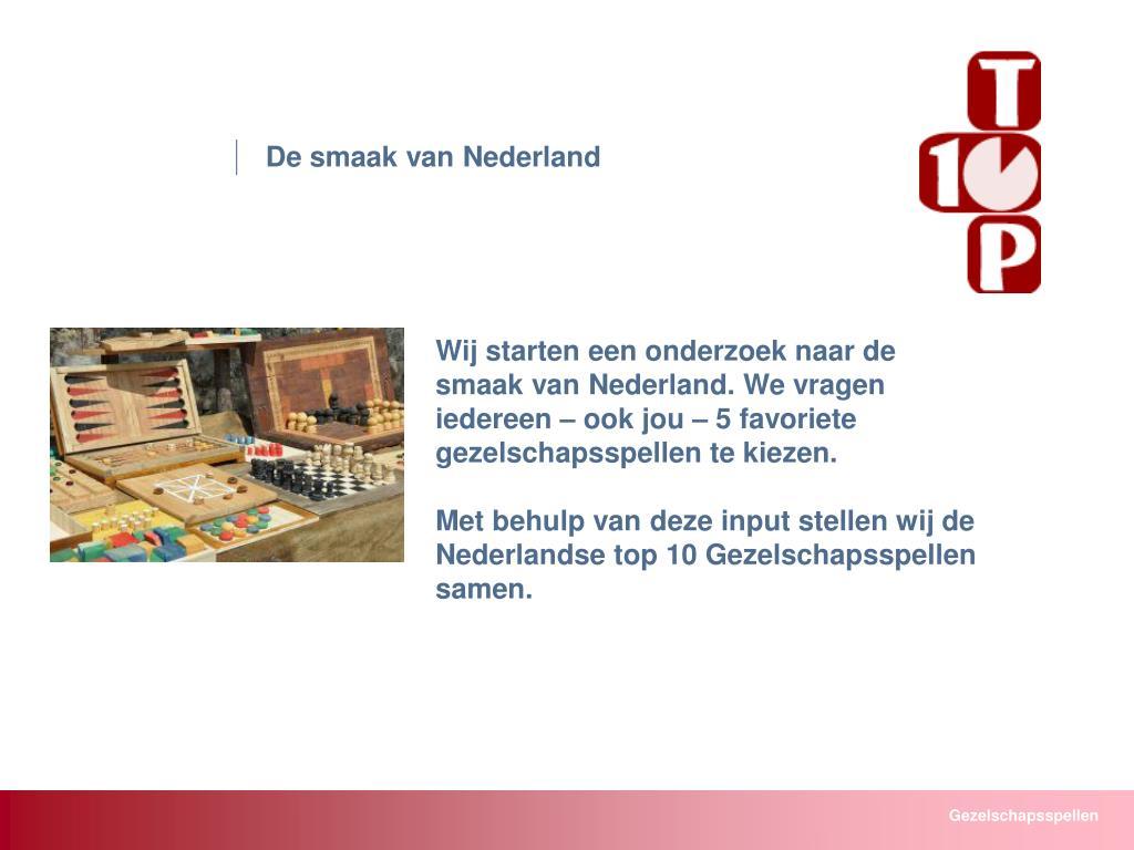 De smaak van Nederland