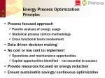 energy process optimization principles