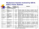 meritorious awards received by geb gsecl power stations1