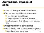 animations images et sons