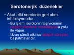 serotonerjik d zenekler