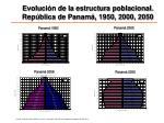 evoluci n de la estructura poblacional rep blica de panam 1950 2000 2050
