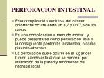 perforacion intestinal
