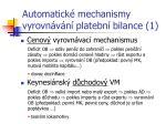 automatick mechanismy vyrovn v n platebn bilance 1