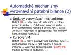 automatick mechanismy vyrovn v n platebn bilance 2