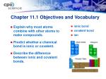 chapter 11 1 objectives and vocabulary