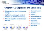 chapter 11 2 objectives and vocabulary