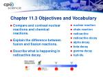 chapter 11 3 objectives and vocabulary