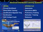 advanced distributed learning systems