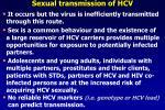 sexual transmission of hcv