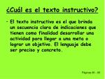 cu l es el texto instructivo
