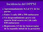 incidencia del dppni