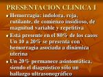presentacion clinica i