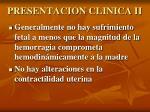 presentacion clinica ii