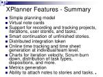 xplanner features summary
