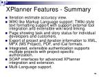 xplanner features summary1