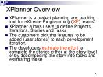 xplanner overview