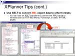 xplanner tips cont1