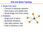 hub and spoke topology