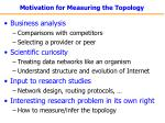 motivation for measuring the topology