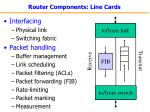 router components line cards