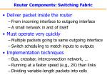 router components switching fabric