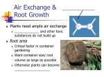 air exchange root growth