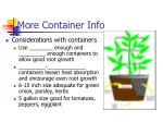 more container info