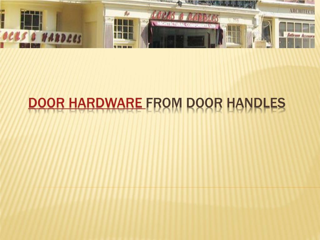door hardware from door handles l.
