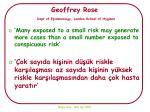 geoffrey rose dept of epidemiology london school of hygiene