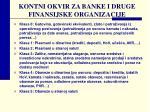 kontni okvir za banke i druge finansijske organizacije