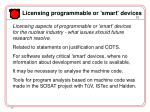 licensing programmable or smart devices