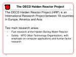 the oecd halden reactor project