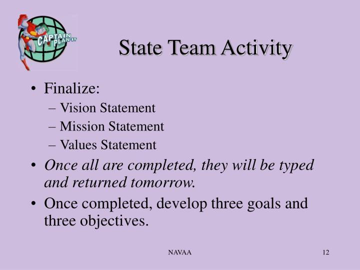 State Team Activity