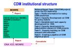 cdm institutional structure